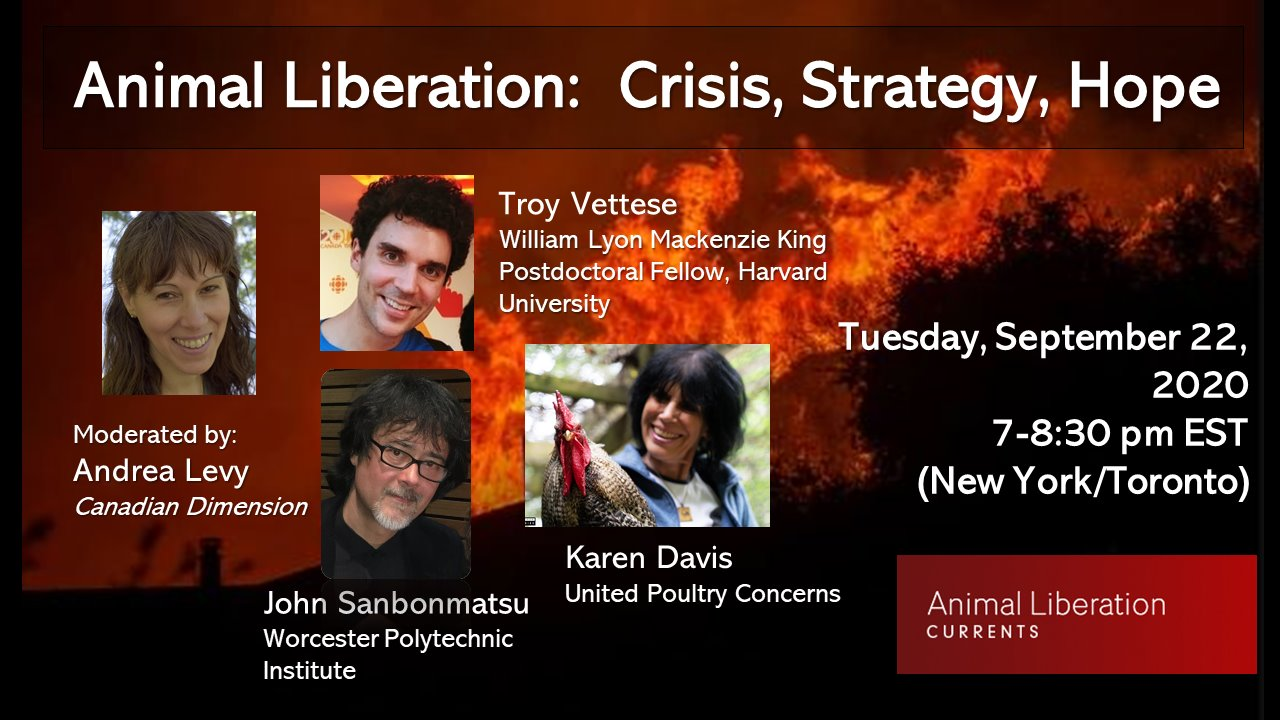 Poster for Animal Liberation: Crisis, Strategy, Hope