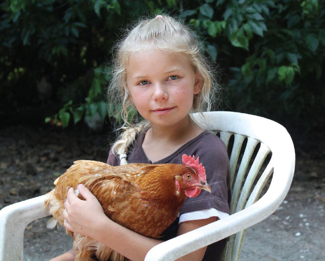Alisa holding hen Amber