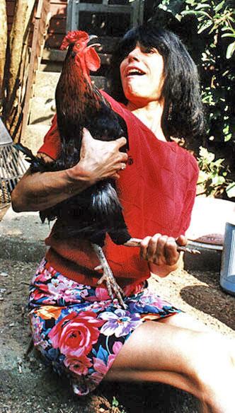 Karen holding a crowing Pola