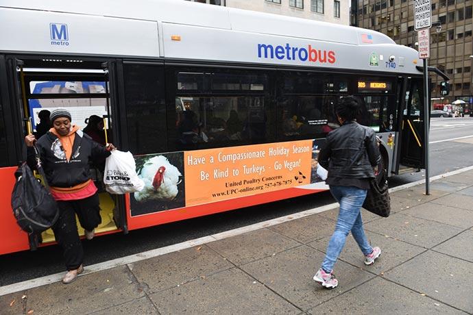 2014 bus ad campaign in Washington DC