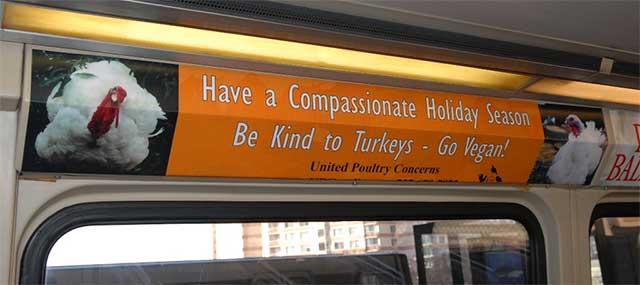 UPC poster inside Metro bus